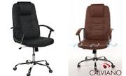 Офисное  кресло STEEL из НАТУРАЛЬНОЙ КОЖИ