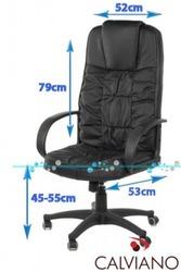 Офисное  кресло BOSS из НАТУРАЛЬНОЙ КОЖИ