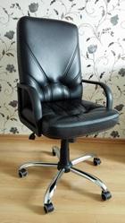 Продам кресло компьютерное. Натуральная кожа. Черного цвета